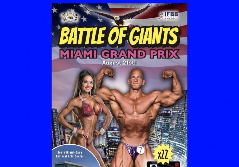 IFBB запрошує атлетів взяти участь у турнірі  «MIAMI GRAND PRIX «THE BATTLE OF GIANTS»